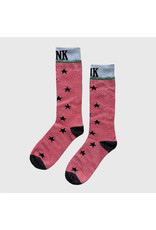 Pinned by K Pinned by K Socks Long Stars Pink One Size