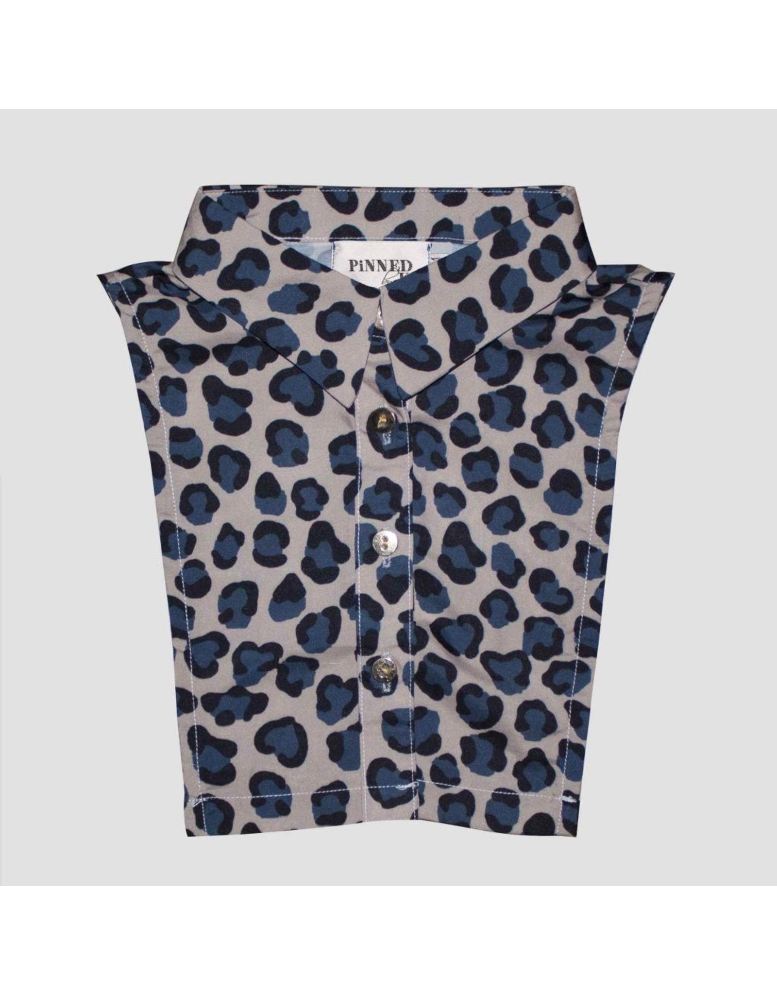 Pinned by K Pinned by K Collar Kids Leopard Blue