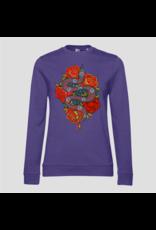 Pinned by K Pinned by K Sweater Kids Rose Snake Purple