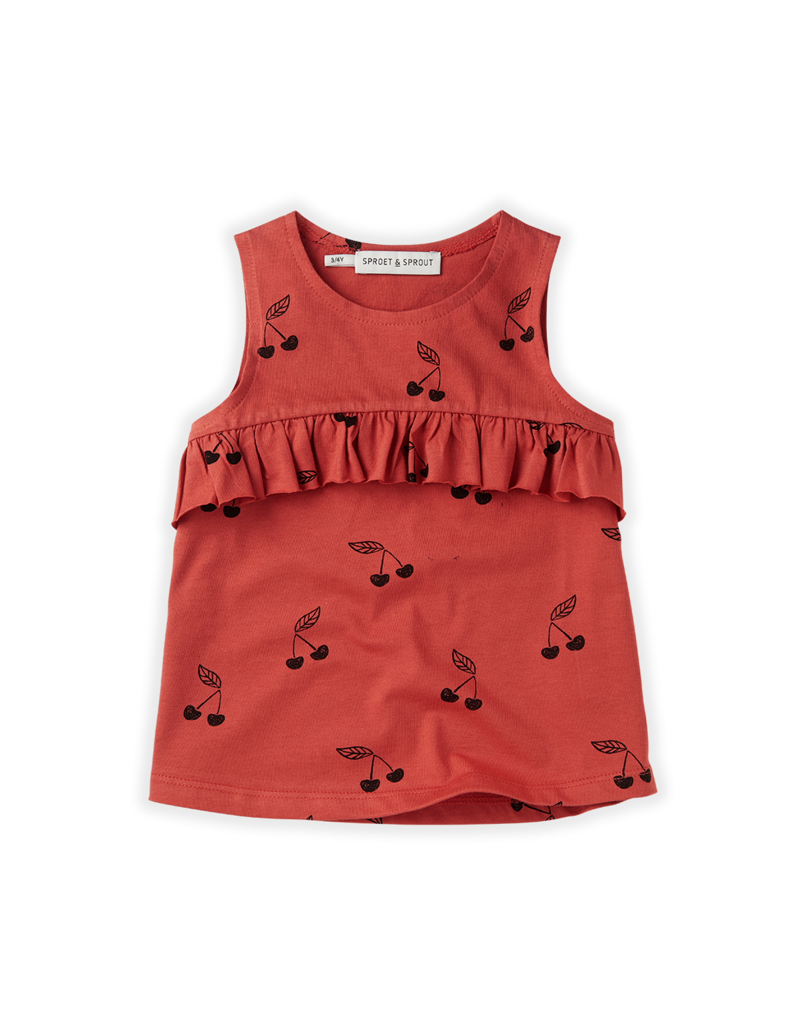 Sproet & Sprout Sproet & Sprout Top Ruffle Print Cherry