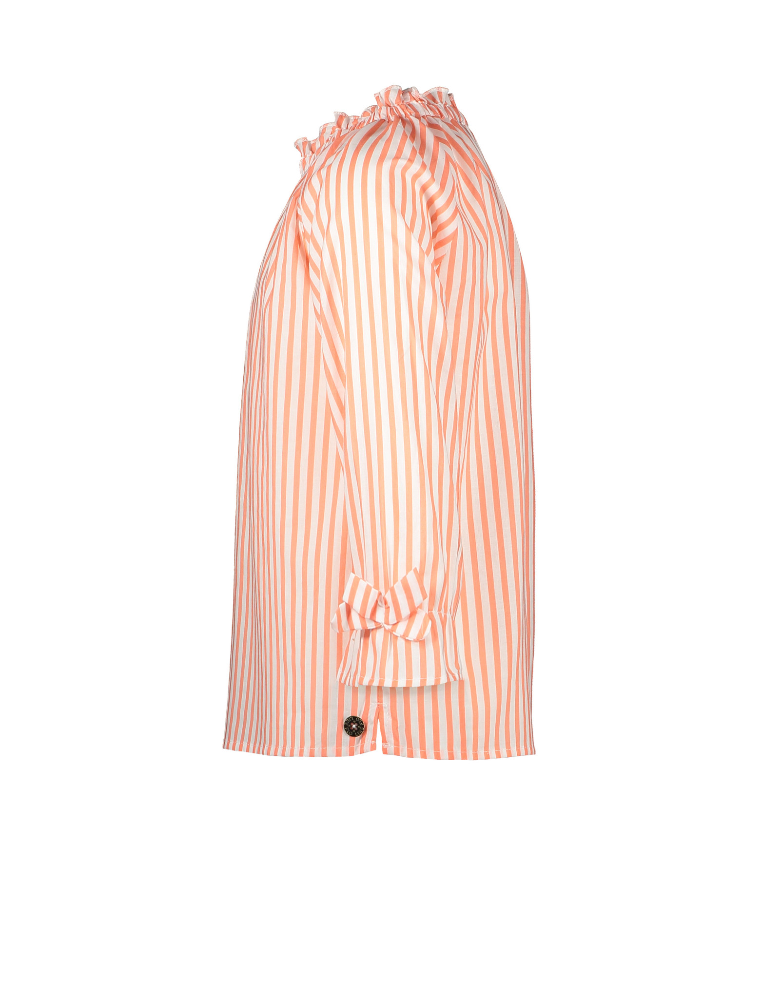 Like Flo Like Flo Girls Woven LS Blouse Neon Stripe