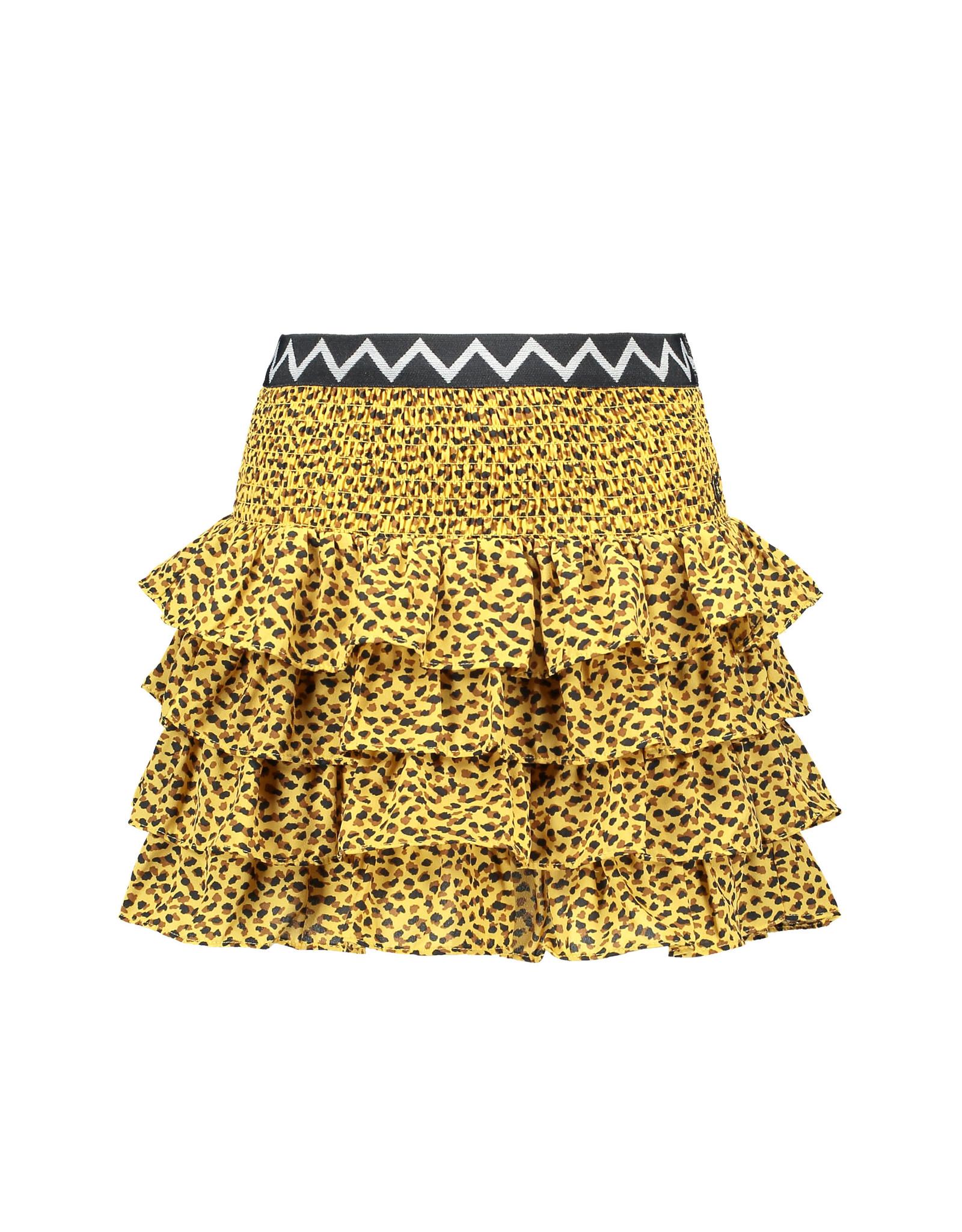 Like Flo Like Flo Girls AO Woven Smock Ruffle Skirt Panther