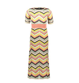 Like Flo Like Flo Girls Knitted Zigzag Maxi