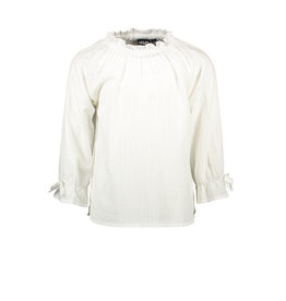 Like Flo Like Flo Girls Woven LS Blouse Off White
