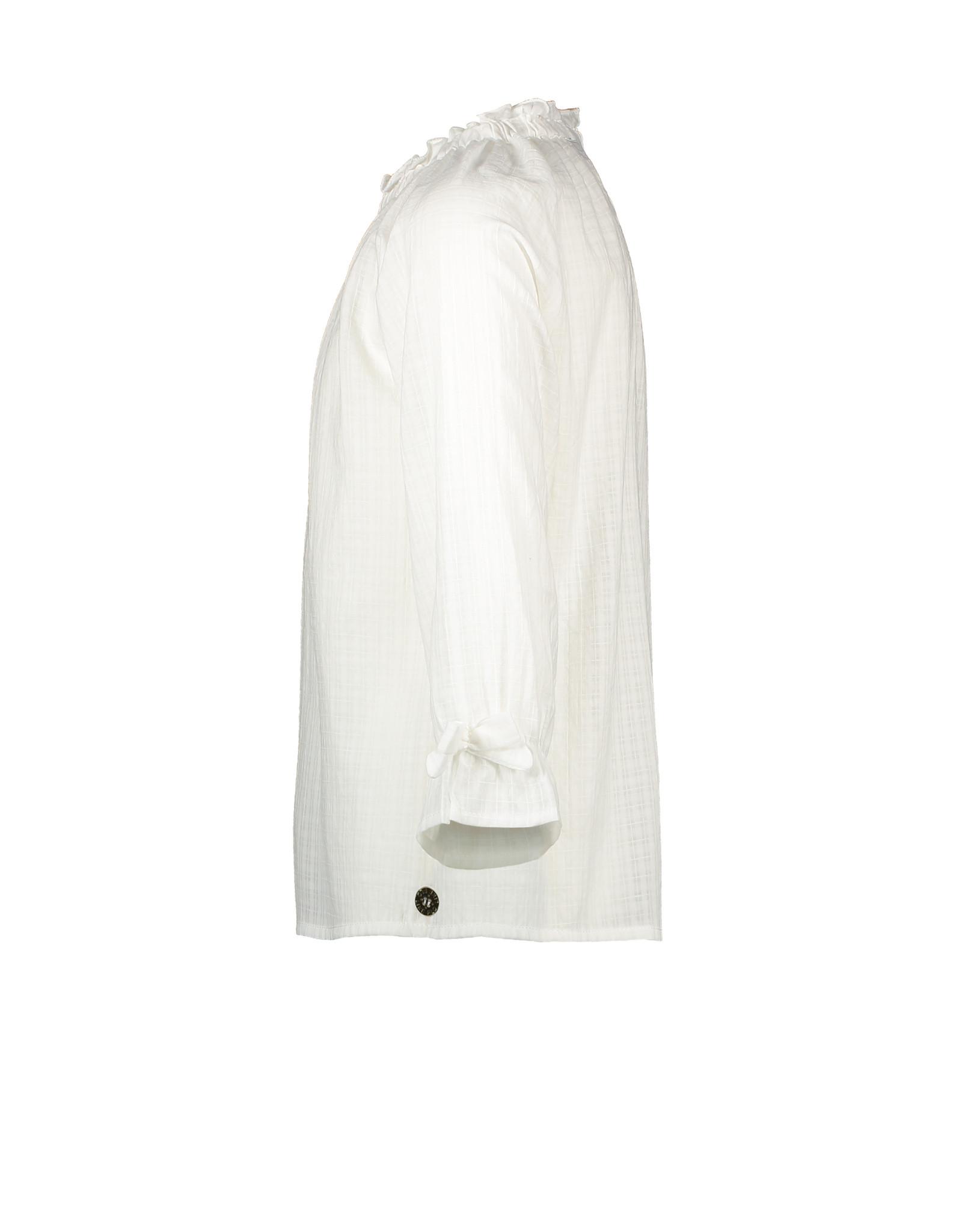 Like Flo Like Flo Girls Woven LS Blouse Off White