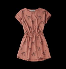 Sproet & Sprout Sproet & Sprout Skater Dress Print Camel Rose
