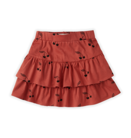 Sproet & Sprout Sproet & Sprout Skirt Ruffle Print Cherry