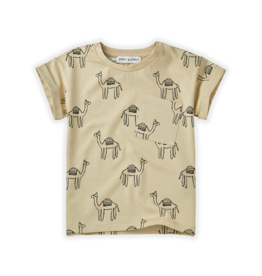 Sproet & Sprout Sproet & Sprout T-shirt Print Camel Sesam