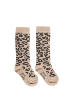 House of Jamie HOJ Knee Socks Caramel Leopard