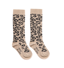 House of Jamie HOJ Knee Socks Caramel Leopard