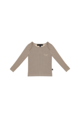 House of Jamie HOJ Long Sleeve Tee Charcoal Sheer Stripes
