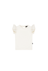 House of Jamie HOJ Ruffled Tee Cream