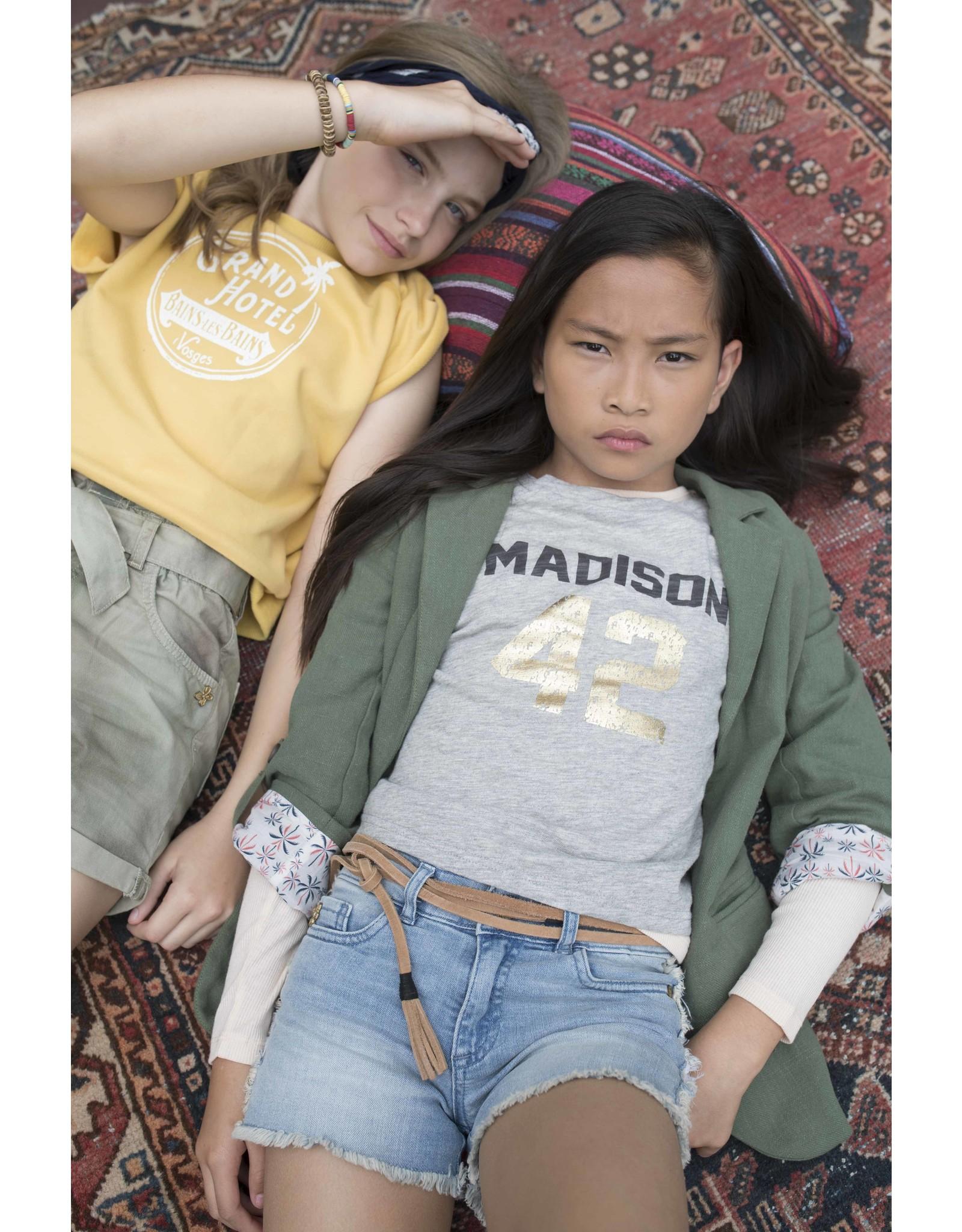 Street Called Madison SCM Luna Slub short sleeve Tee Happy LGR Mel