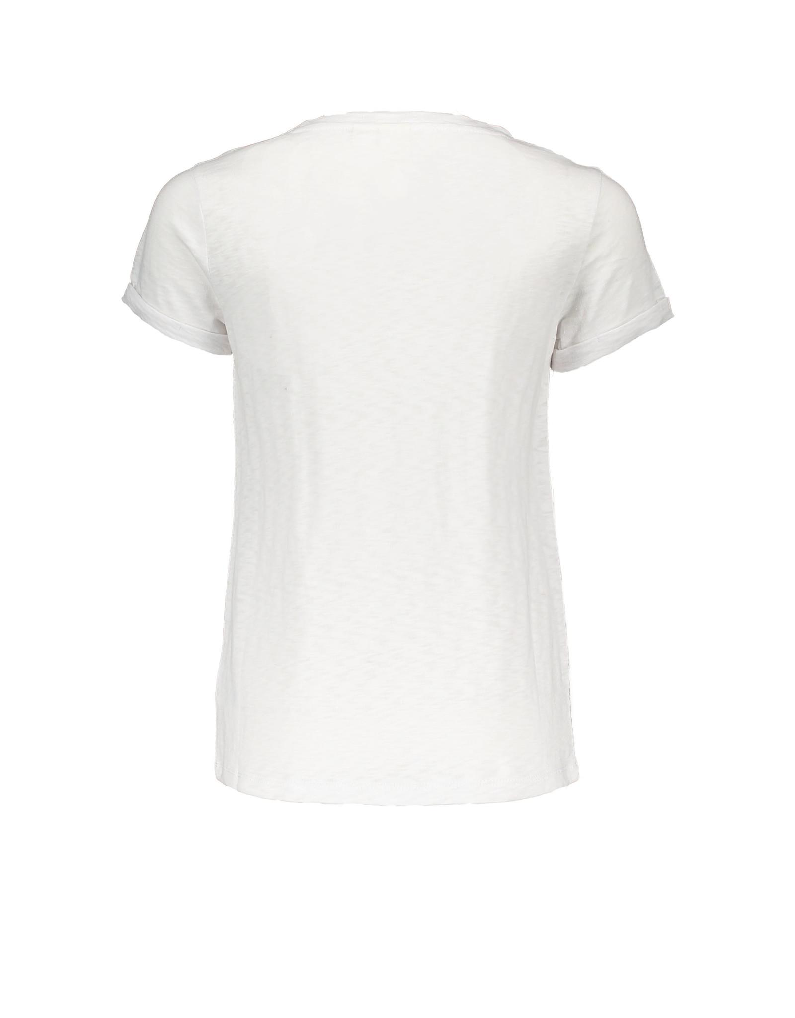 Street Called Madison SCM Luna Slub short sleeve Tee Hello White