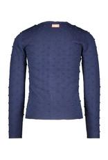 B.Nosy B.Nosy Girls Jaquard Knitted Cardigan Space Blue