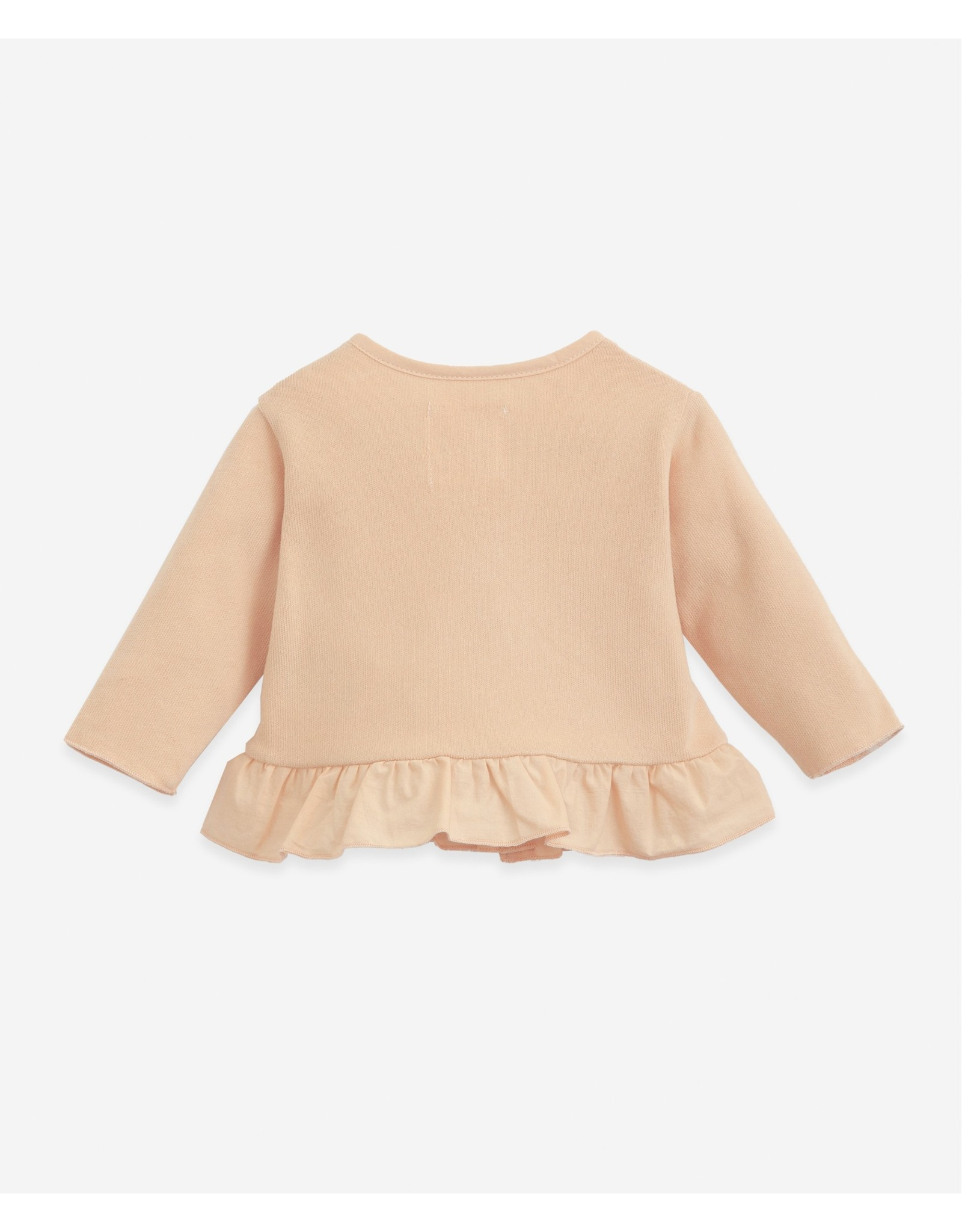 Play Up Play Up Cardigan In Organic Cotton Egg