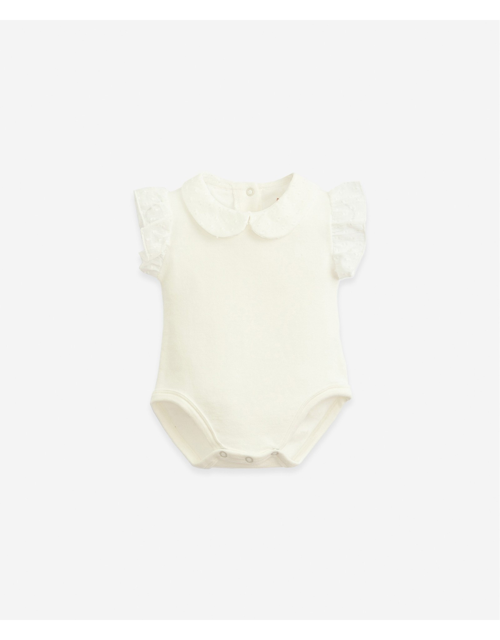 Play Up Play Up Body In Organic Cotton With a Collar Windflower