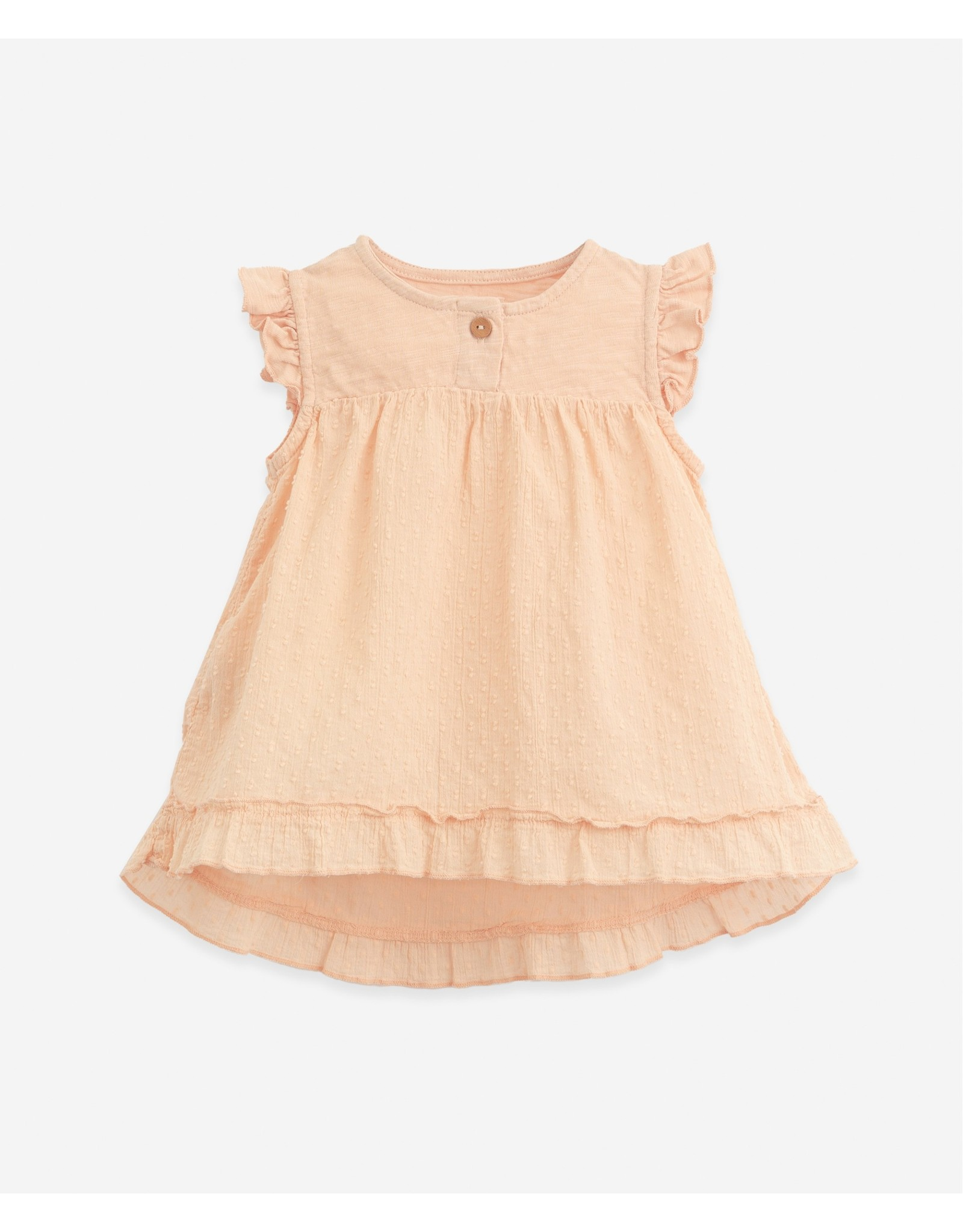 Play Up Play Up Tunic With A Mixture Of Knitwear And Cloth Egg