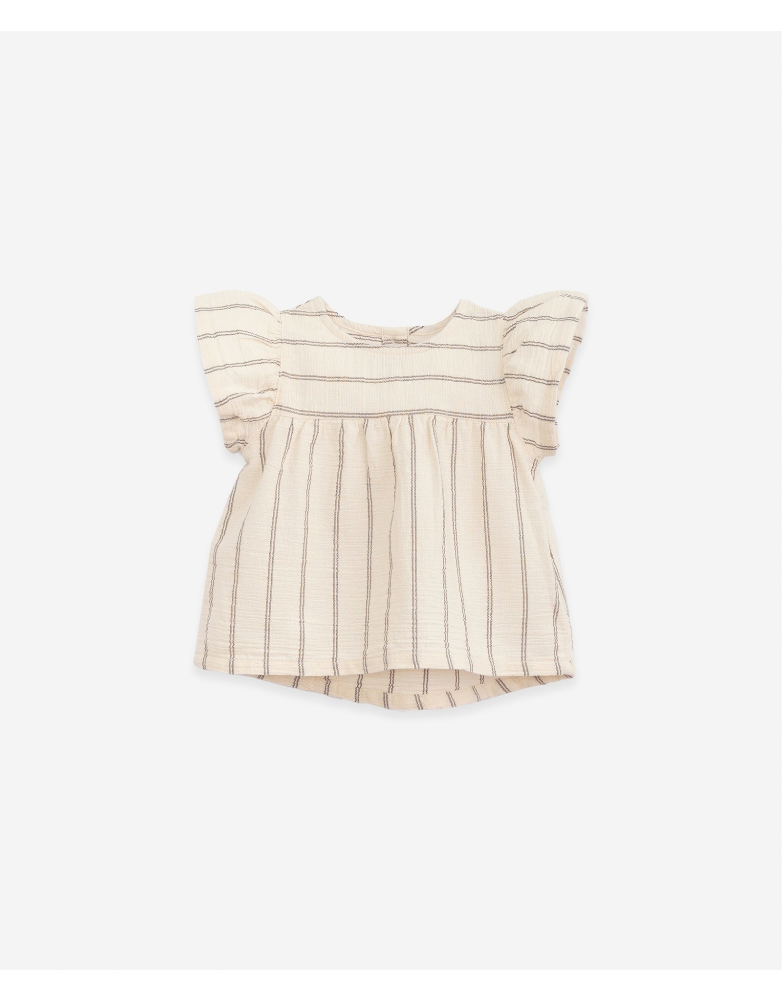 Play Up Play Up Striped Tunic In Cloth Dandelion