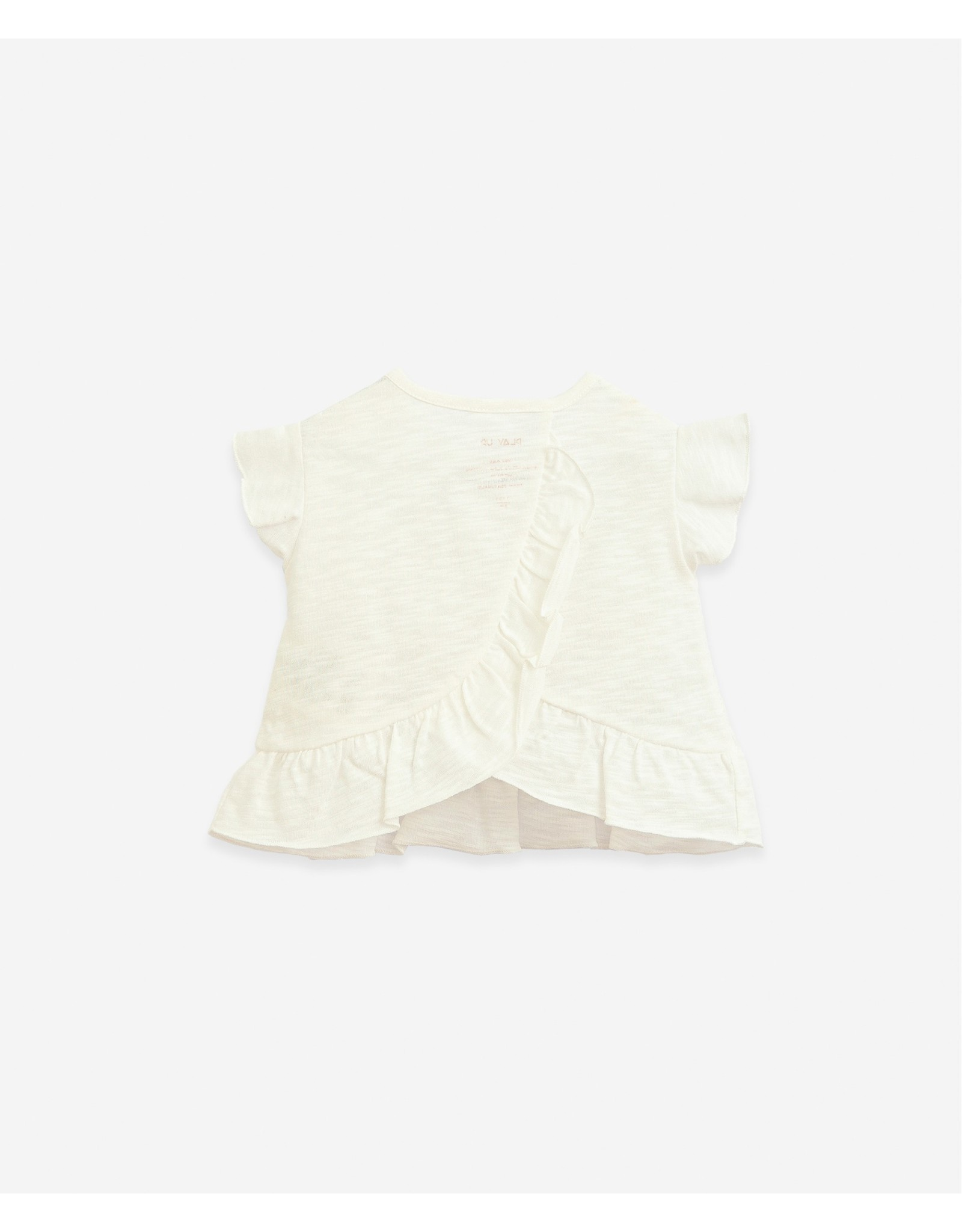 Play Up Play Up Organic Cotton T-shirt With Wooden Buttons Windflower