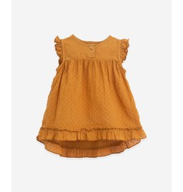 Play Up Play Up Tunic With A Mixture Of Knitwear And Cloth Hazel