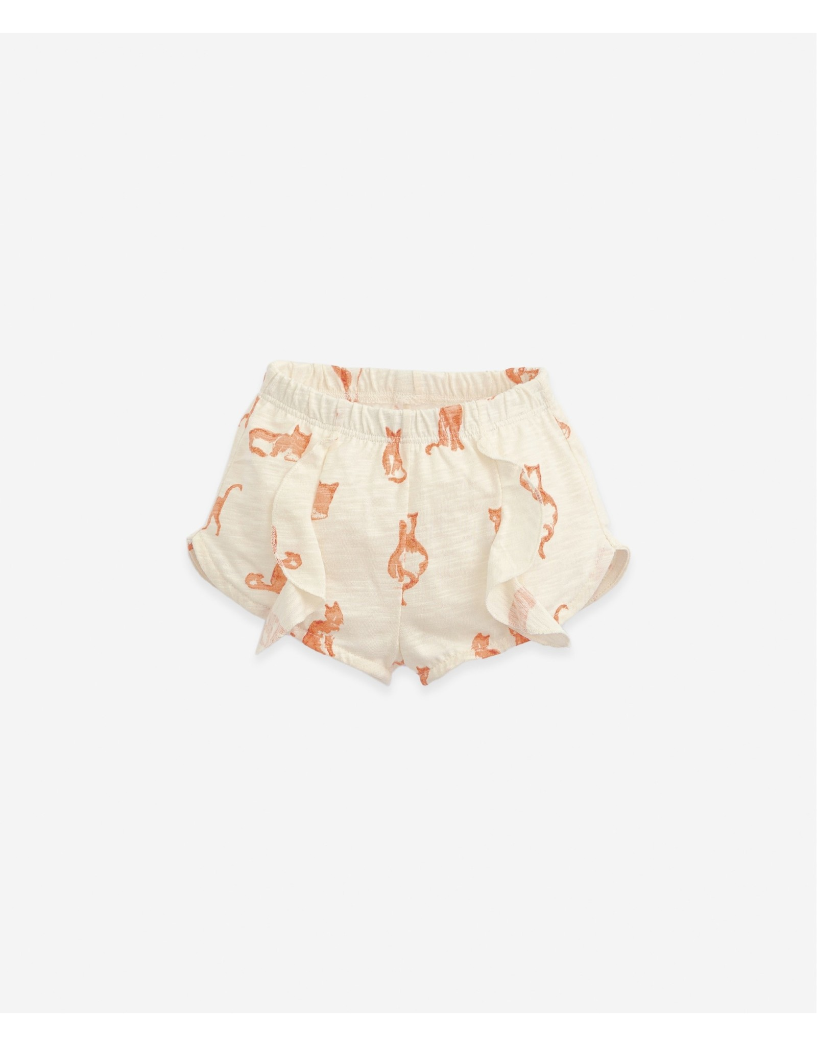 Play Up Play Up Shorts With Cat Print Dandelion