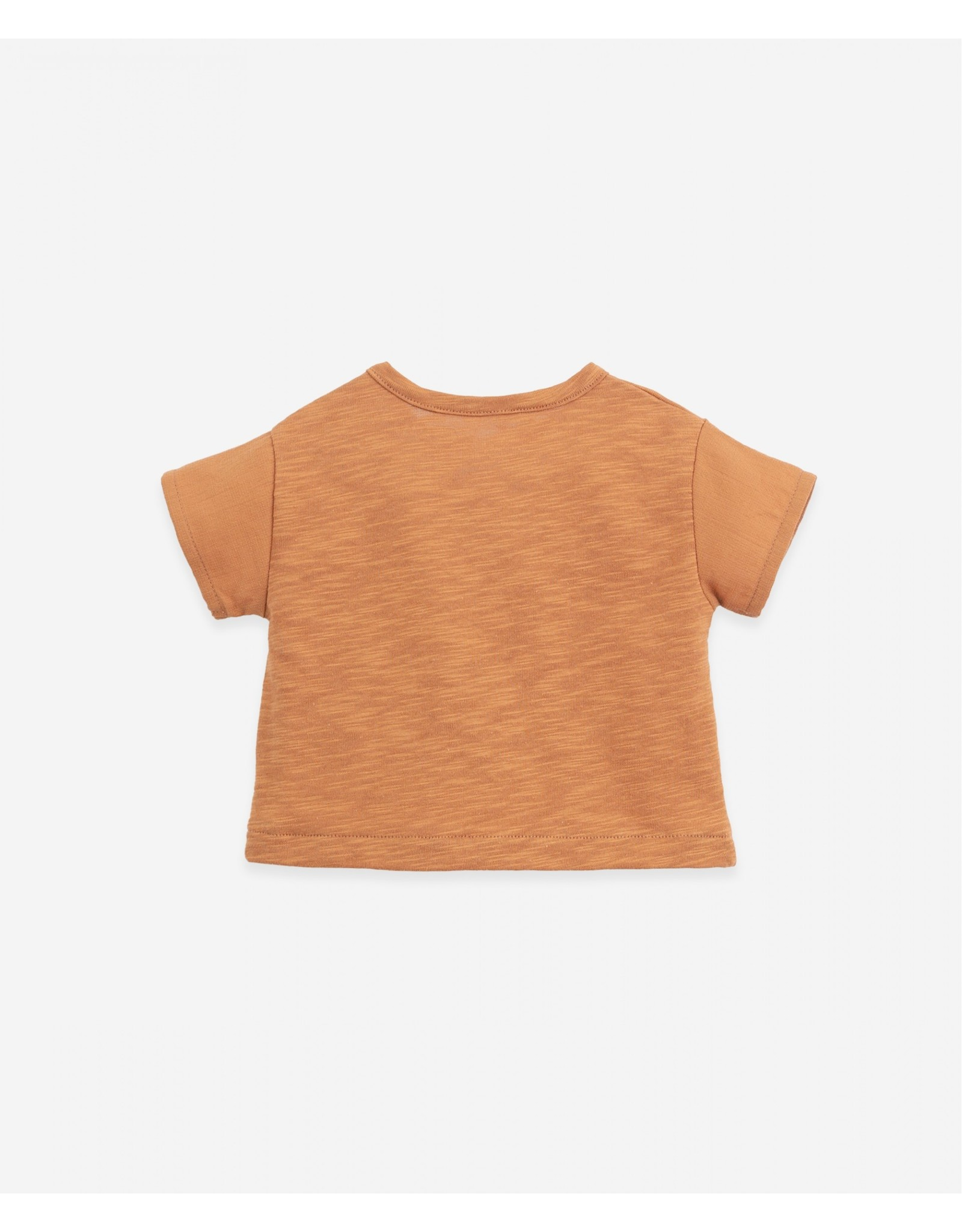 Play Up Play Up T-shirt With Sleeves And Woven Pocket Raquel