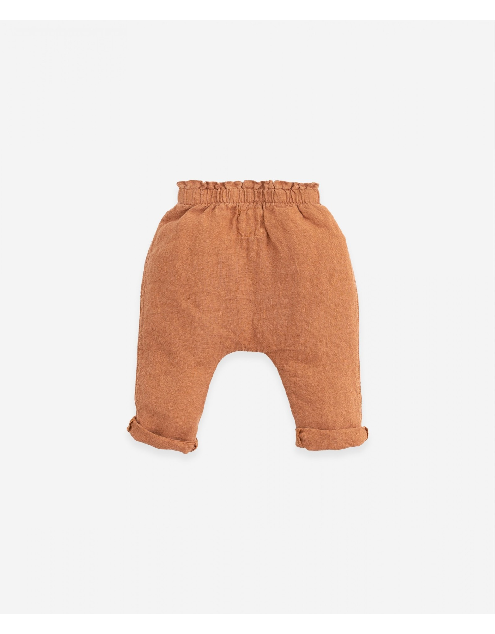 Play Up Play Up Linen Trousers With Jute Cord Raquel