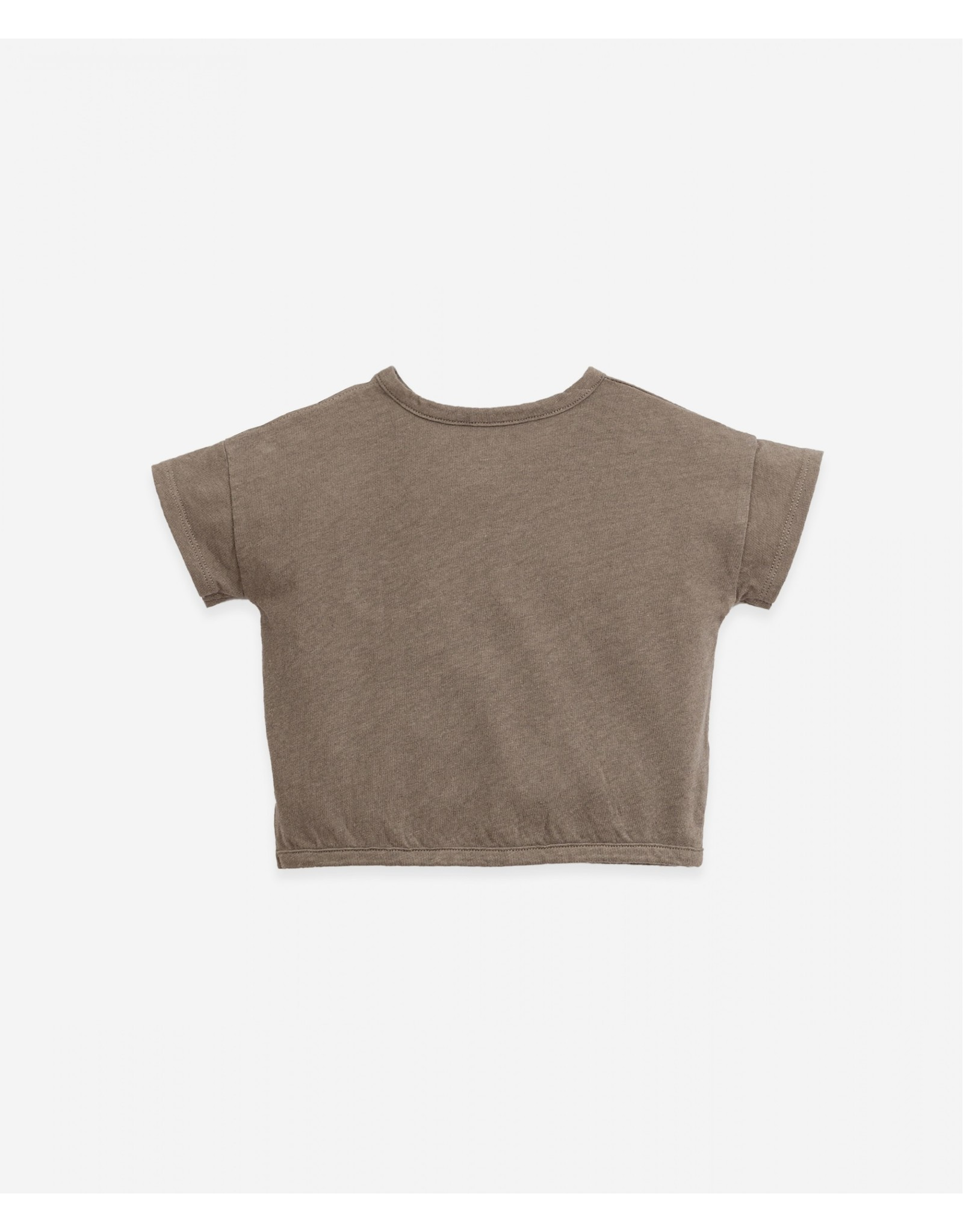 Play Up Play Up T-shirt in Organic cotton and linen Botany Pinha