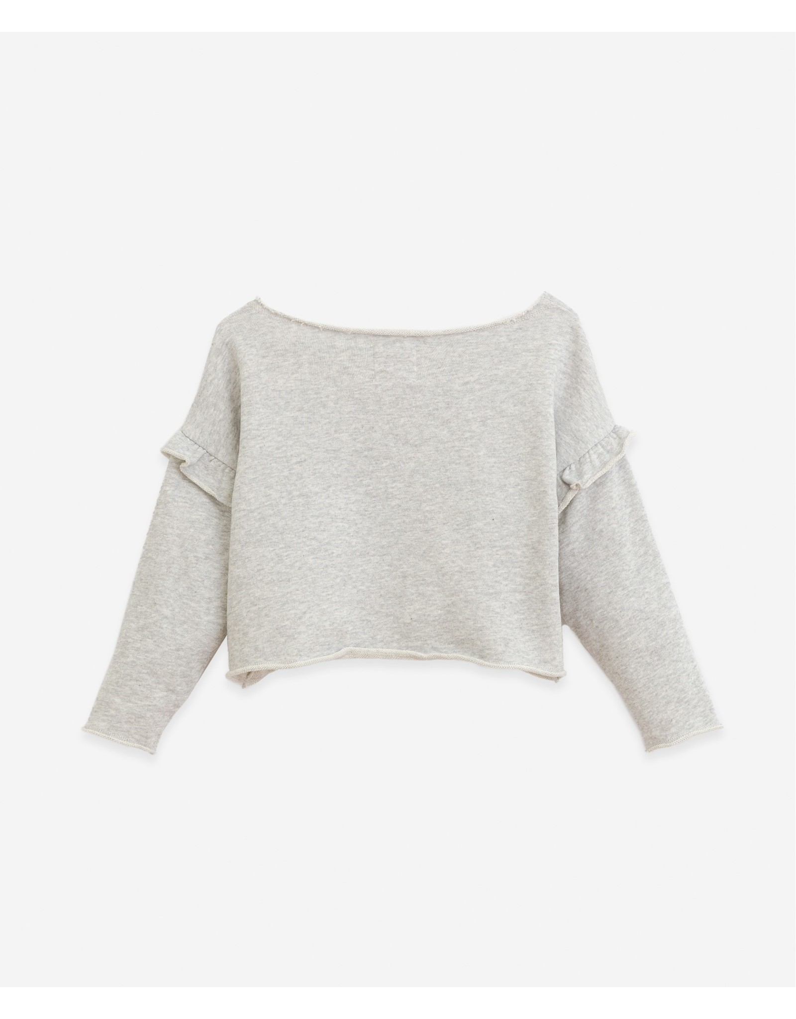 Play Up Play Up Sweater with Frill Botany Grey Melange