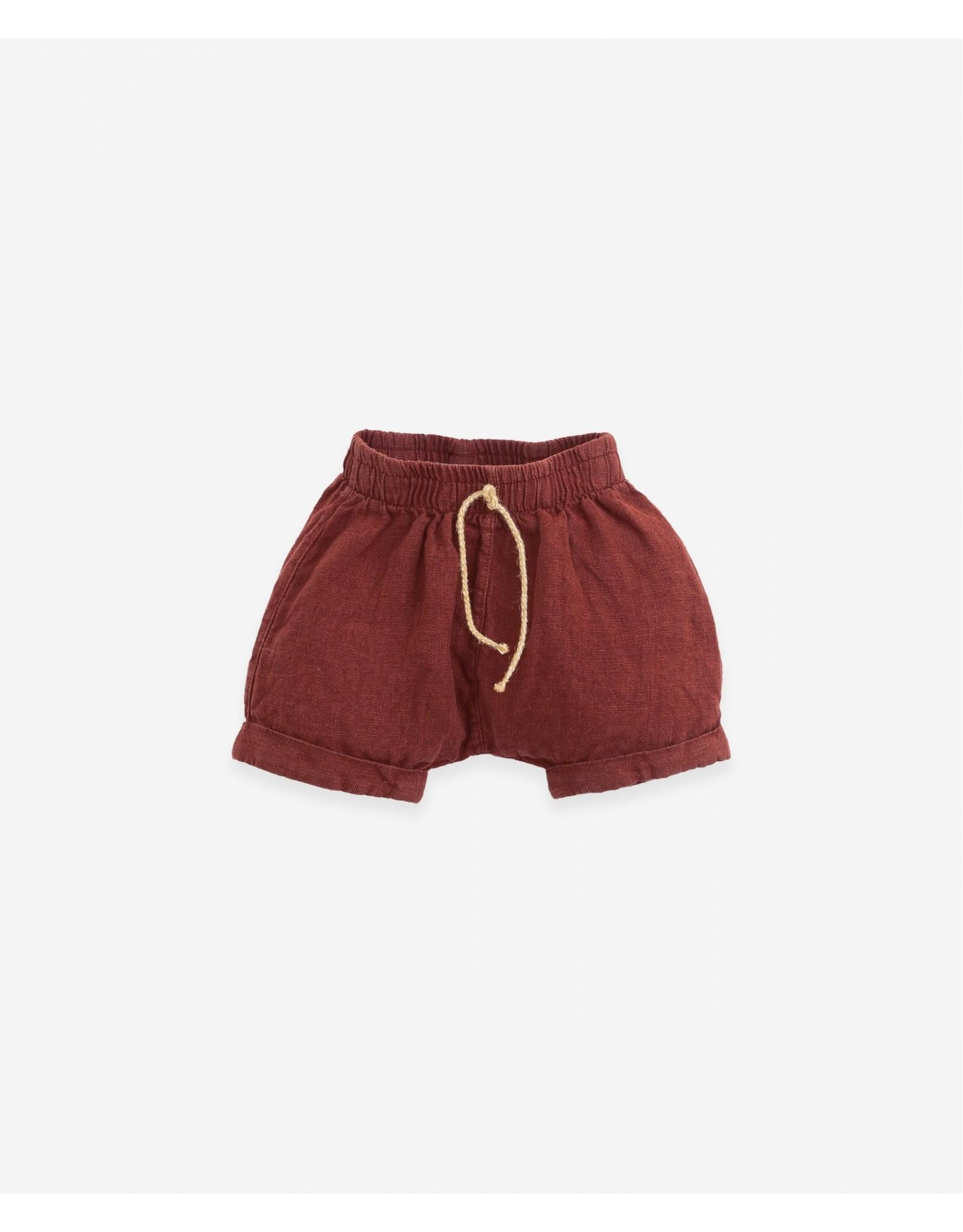 Play Up Play Up Linen Shorts with double hem Botany Farm