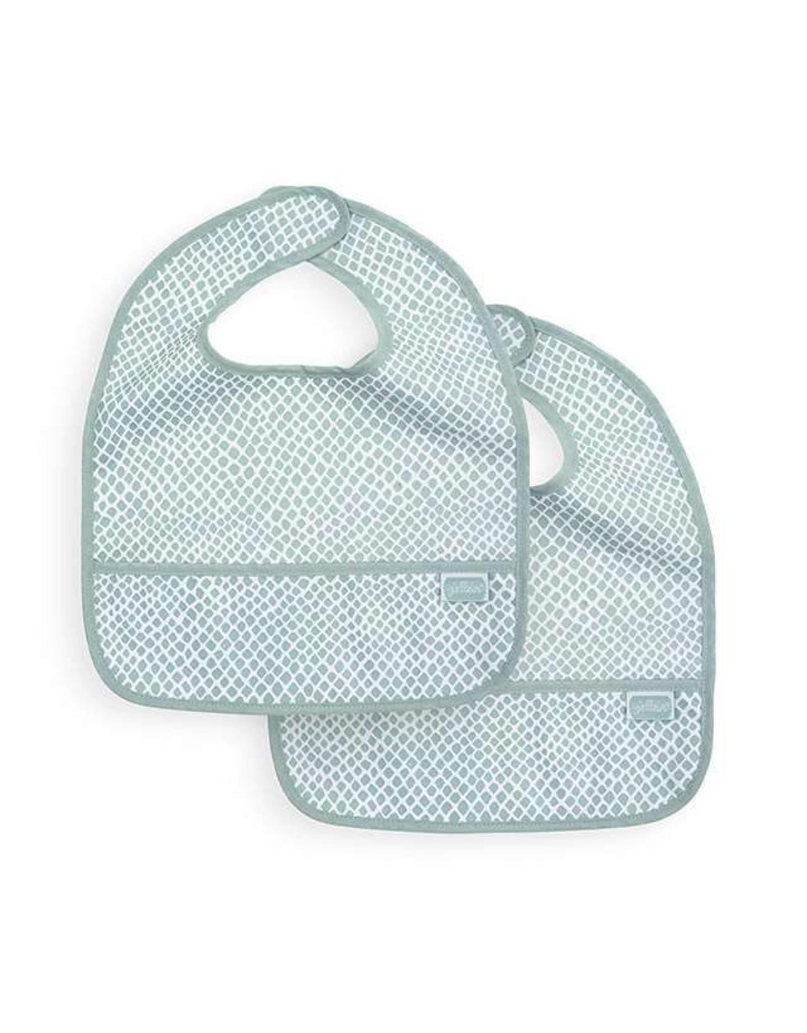 Jollein Slab Waterproof Snake Soft Green 2 pack