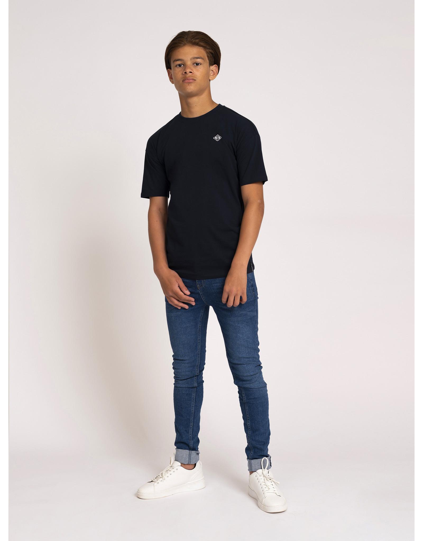 Nik&Nik NIK&NIK Alano T-shirt Faded Dark Blue