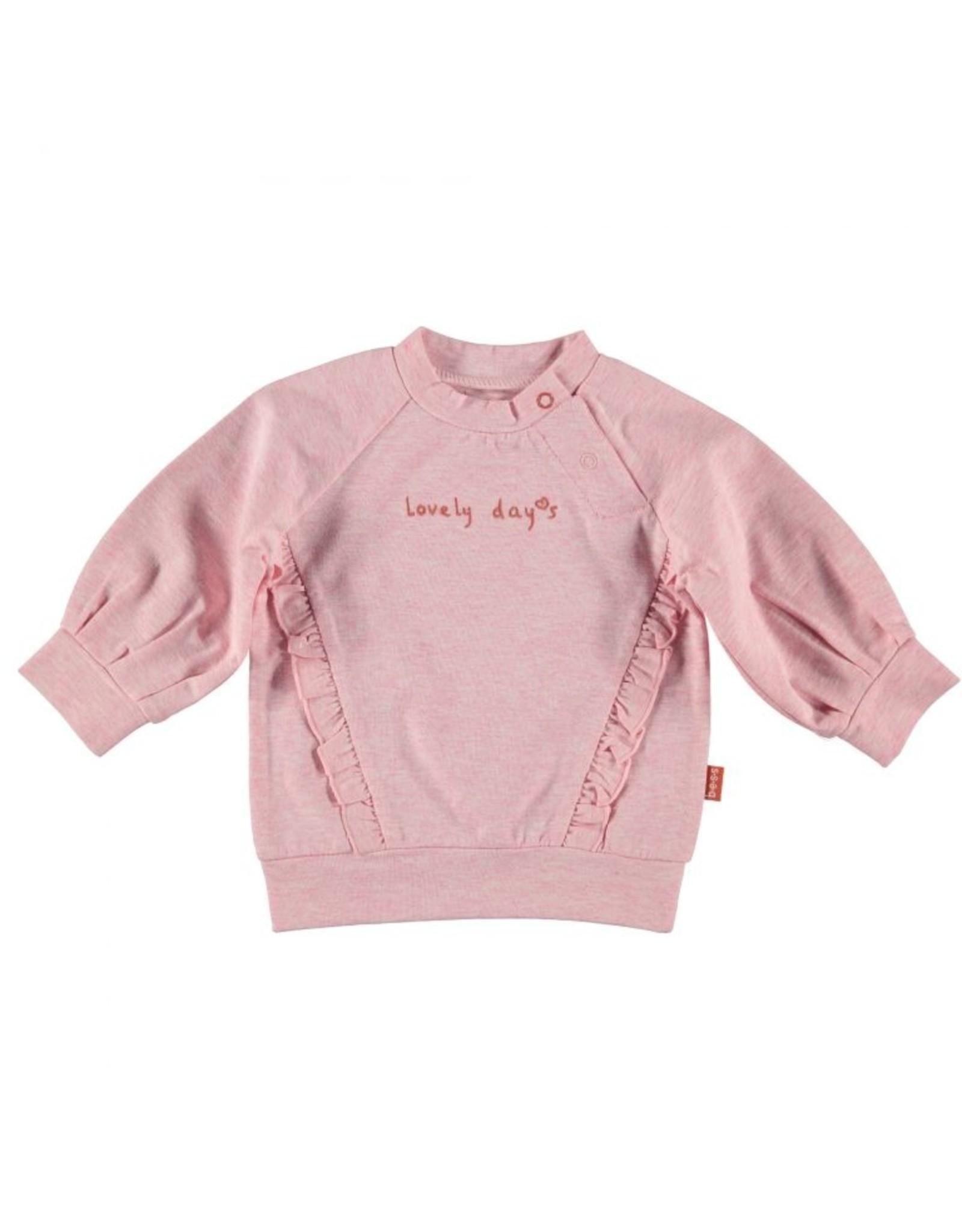 BESS Bess Sweater Lovely Days Ruffles Pink