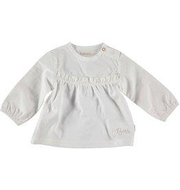 BESS Bess Shirt Blouse Ruffles White