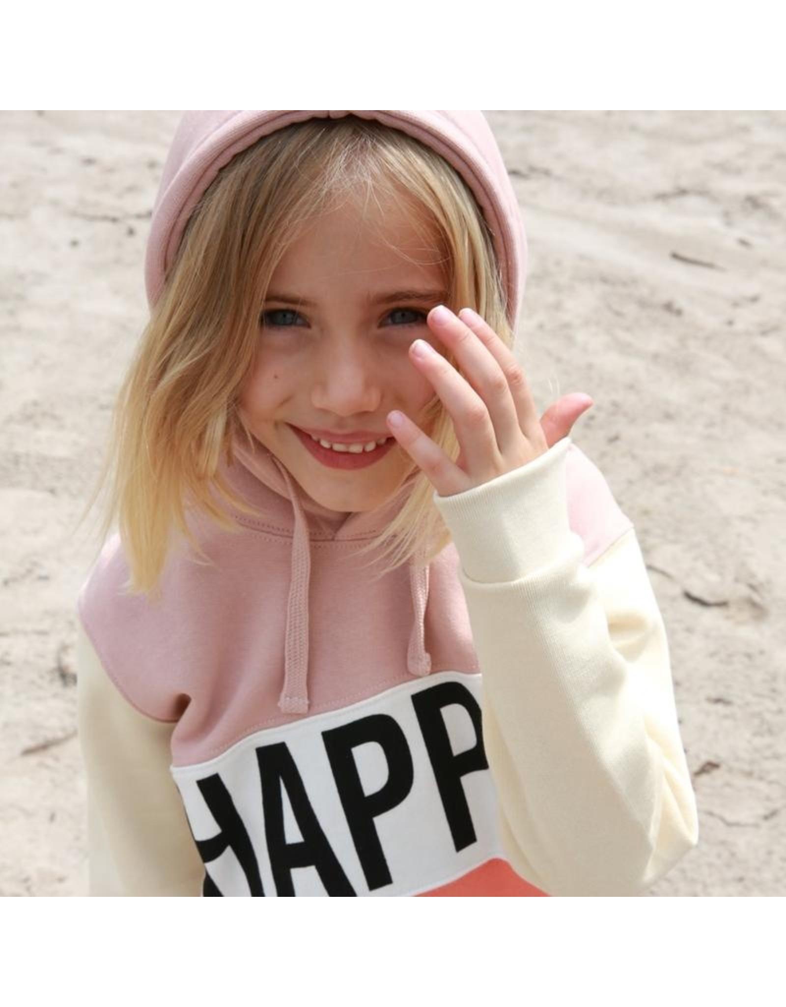 Cos I Said So Cos I Said So Happy Human Color Block Hoodie Sepia Rose