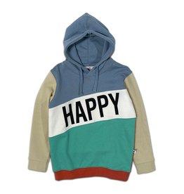 Cos I Said So Cos I Said So Happy Human Color Block Hoodie Faded Denim