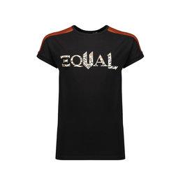 NoBell Nobell Kamy T Shirt With Shoulder Parts Jet Black