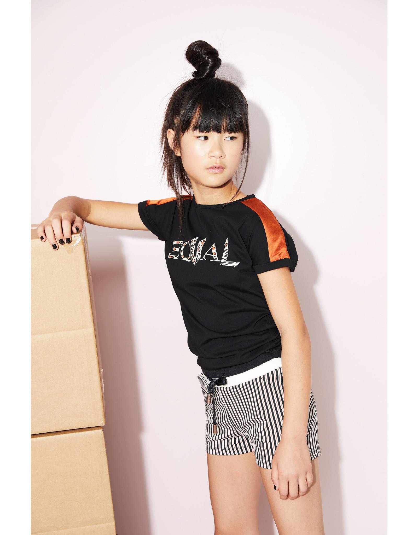 NoBell Nobell Shorty Short Japanese Stripe Jet Black