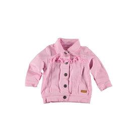 BESS Bess Jeans Jacket Ruffles Pink