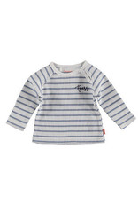 BESS Bess Sweater L. Sl. Striped White