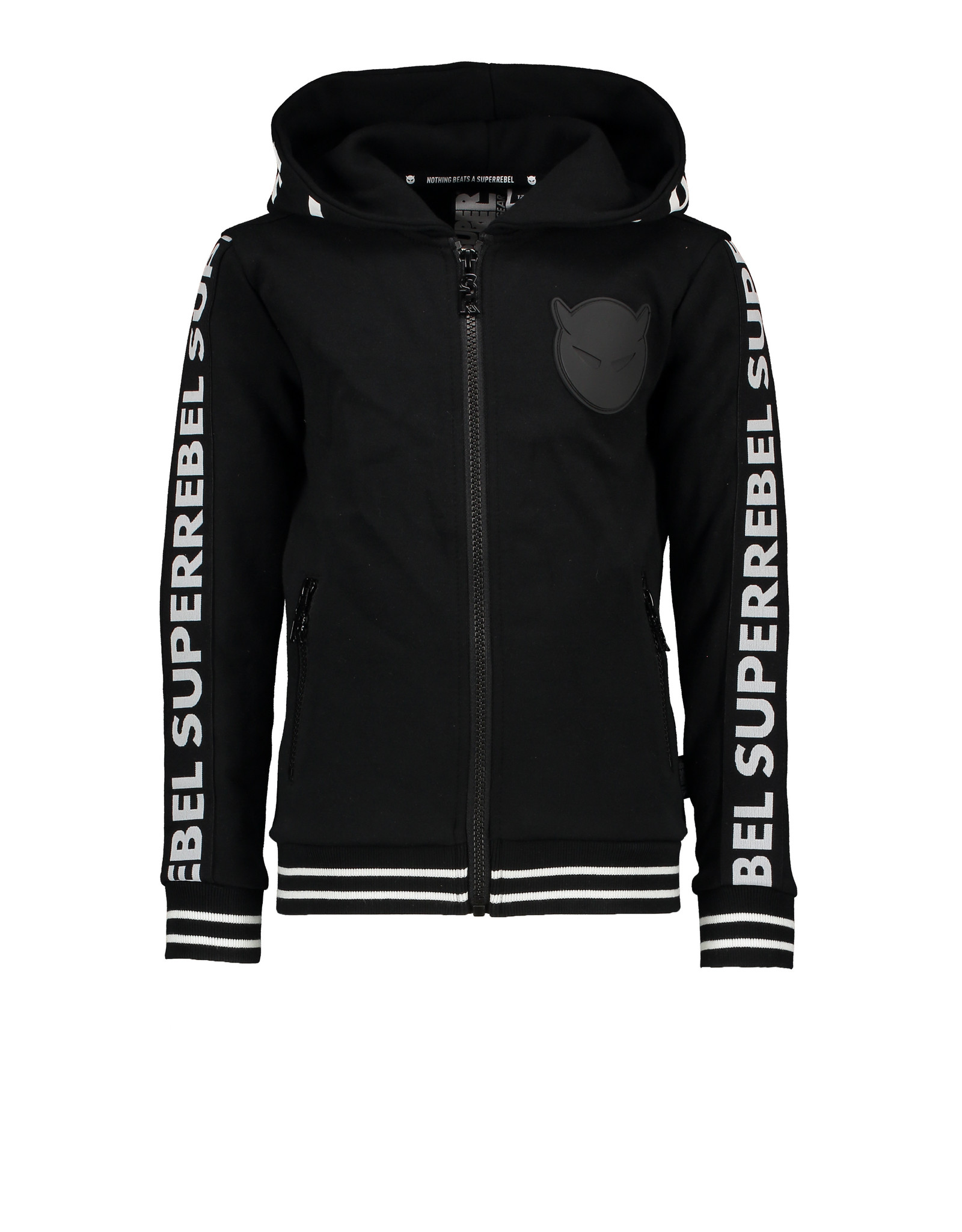 Super Rebel SuperRebel Sweat Hooded Cardigan Black