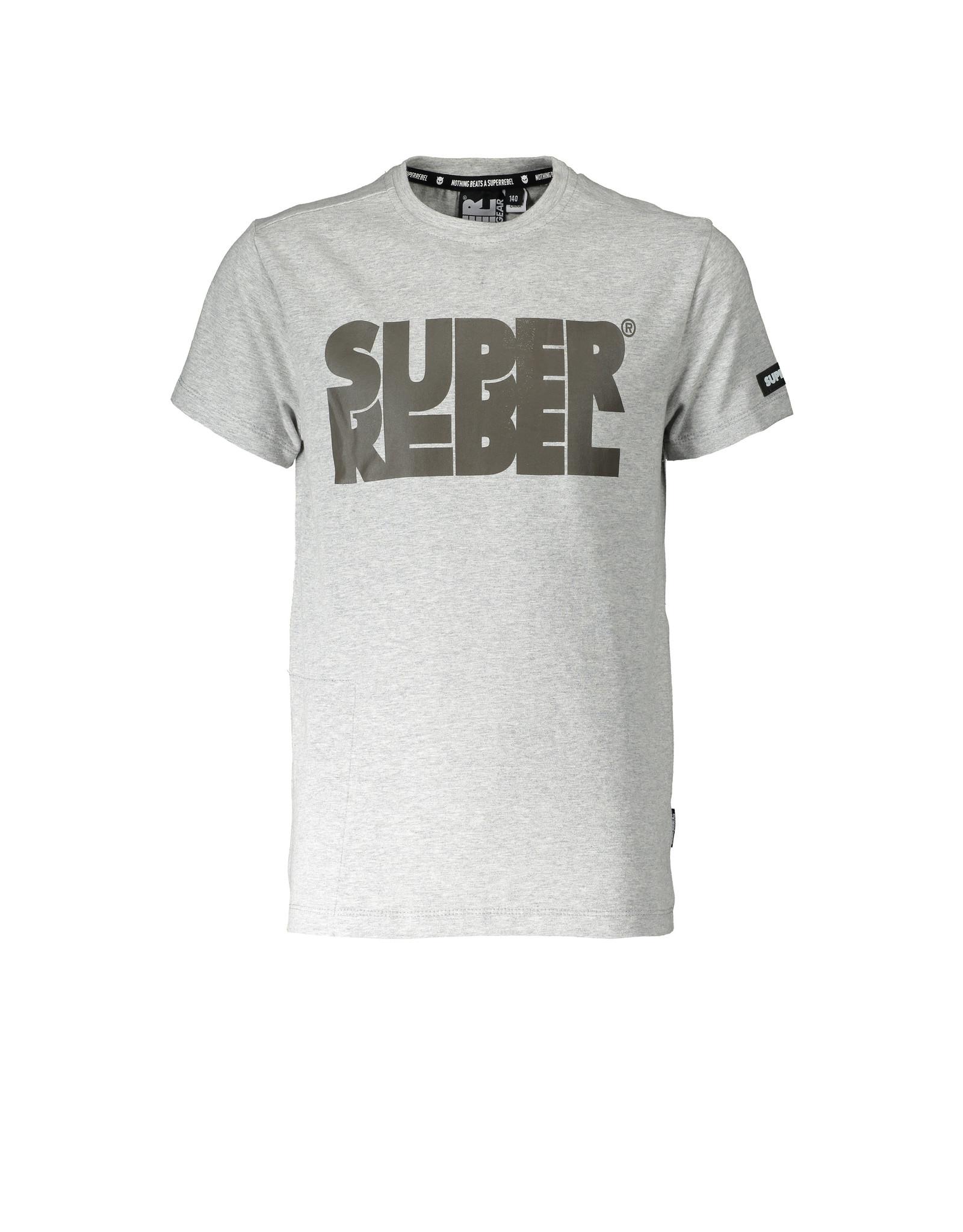 Super Rebel SuperRebel T-shirt Grey Melee