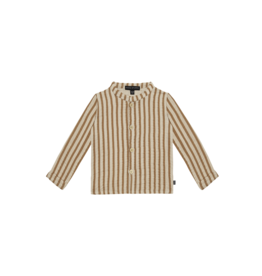 House of Jamie HOJ Boys Collar Blouse Vertical Apple Cider Stripes