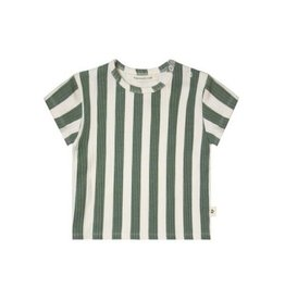 Your Wishes Your Wishes Bold Stripes Loose Tee Old Green