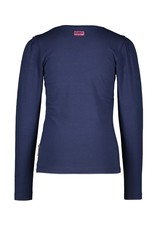 B.Nosy B.Nosy Girls T-shirt With Contrast Ruffle Space Blue