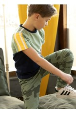 B.Nosy B.Nosy Boys T-shirt with slanted c&s Hunter Green