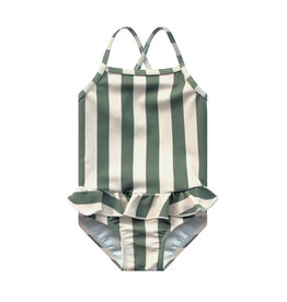 Your Wishes Your Wishes Bold Stripes Swimsuit Old Green