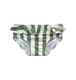 Your Wishes Your Wishes Bold Stripes Bikini Bottom Old Green