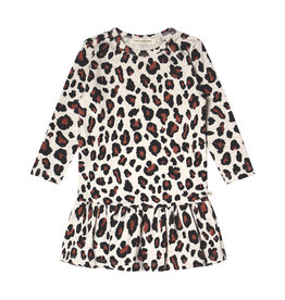 Your Wishes Your Wishes Leopard LS  Shift Dress Terra